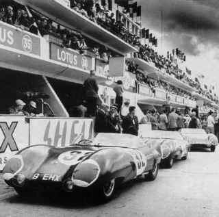 Team Lotus at LeMans, 1956